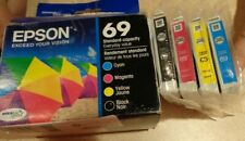 GENUINE Epson 69 Black & TRI-Colors COMBO PACK 2022 FACTORY SEALED in Open Box