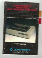 Commodore Computers MPS-802 Dot Matrix Printer User's Guide Manual 1984