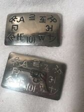 Silver Tone Belt Buckles Usa Gun Vintage Collectible 2 Chambers Belt Branding