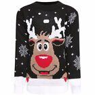enfants filles garçons Noël Nouveauté Rudolph BAMBI pull tricoté 3-14 An
