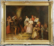 """Court Scene"" Signed style  of Peter F Rothermel 19th C. American Painting"