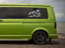 Vw Volkswagen camper t4 t5 panel / window  Mountain Compass sticker decals x2