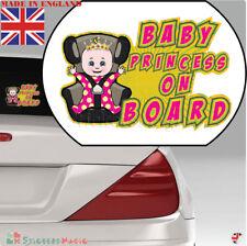 Baby on Board Car Sign Badge Sticker Girl Princess
