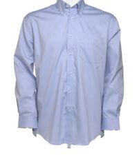 New Contrast Oxford Shirt Ladies Black Long Sleeve Kustom Kit Shirt RRP £18.95