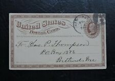 1873 POSTCARD CARD NY NEGATIVE FANCY JAMES W QEEUN OPTICAL SCIENTIFIC INSTRUMENT