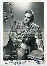 OPER: Gianni POGGI - SCALA di MILANO Handsigniertes OriginalFoto VILLANI 1952