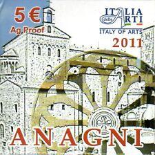 "ITALIE 5 Euros Argent Art Italien ""Anagni"" BE 2011"