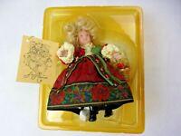 Vintage Kurt S Adler Jocelyn Mostrom Christmas Doll Ornament  Girl in  Dress