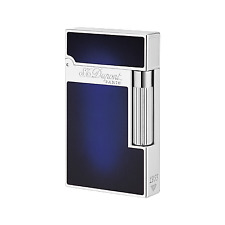 ST DUPONT ATELIER LIGNE 2 LINE 2 LIMITED EDITION PALLADIUM LIGHTER BLUE LACQUER
