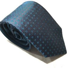 Mens Express Neck Tie Slim Skinny 100% Silk Blue Reversible Navy Narrow 2.75 in.