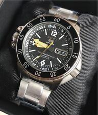 SKZ211J1 Made in Japan Automatic Black Dial Silver Steel Watch for Men