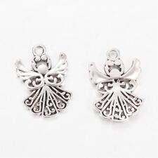 20 Angel Charms Antique Silver Tone Christmas Fairy 20mm X 14mm P00170h