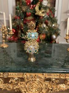 Dollhouse Miniature Artisan Jeweled Christmas Ornament Display/Tree Topper