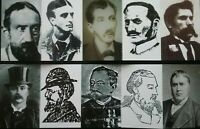 JACK THE RIPPER : WHO WAS HE ? , 10 SMALL PICTURE CARD'S, IS HE AMONGST THEM ??