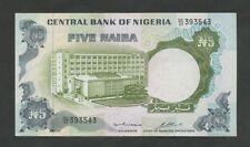 NIGERIA  5 naira  1973  P16b  Uncirculated   World Paper Money