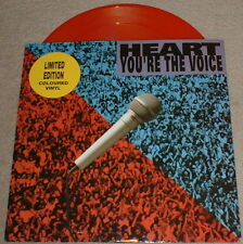 Heart - You're The Voice 10 inch red vinyl single