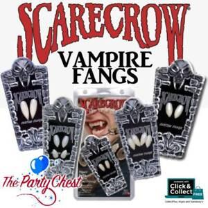 SCARECROW DELUXE FANGS Vampire Werewolf Shredder Saber Halloween Costume Teeth