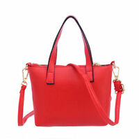 Women PU Leather Handbag Shoulder Bag Messenger Large Tote Ladies Purse Fashion
