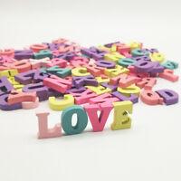 FA- KQ_ 100Pcs Mini English Letters Wooden Blocks Ornament DIY Scrapbooking Tool