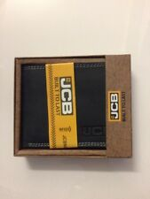 JCB BOXED SOFT NAPPA BI FOLD LEATHER WALLET NOTES COINS CREDIT CARDS BLACK NEW