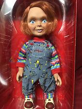 "15"" Childs Play Mega Scale Chucky Mezco Good Guy Face Talking Doll Happy Rare"