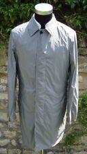 AQUASCUTUM Grey Single Breasted Aquamac PACKABLE Trench Rain Coat 42 BNWT