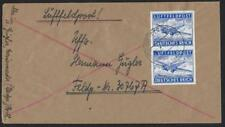 GERMANY 1949 FIELD POST AIR MAIL COVER FRANKED IMPERF PAIR Mi 1U TIED MARIENWEWD