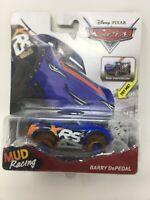 Disney Pixar Cars Mud Racing XRS Series Real Suspension Barry Depedal 1:55 NIP