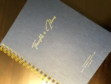 New Fringe Notesmark Navy Blue 192 Lined Pages Luxury 10 x 7 Inch Notebook