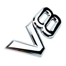 3D Metal Silver Chrome Logo Car Sticker V8 Emblem Badge For Land Range Rover SUV