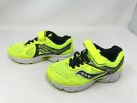 Boys Saucony (SC59674) Cohesion 10 Neon Yellow/Black Running Sneakers (458F)