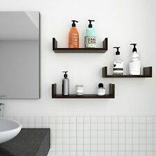 Set of 3 Floating Display Shelves Ledge Bookshelf Wall Mount Storage Home Decor