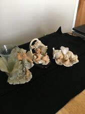 Set Of Three Decorative Fairies, 5-1/2�, 4-1/2� and 3�, Excellent Condition