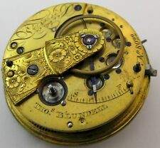 Pocket Watch Movement T. Blundell at Liverpool, chain fusee & dustcover