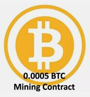 at least 0.0005 Bitcoin (BTC) 1 hour mining contract fast