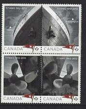 CANADA 2012 TITANIC BLOCK OF 4 UNMOUNTED MINT, MNH