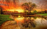 LANDSCAPE CANVAS PICTURE PRINT WALL ART FRAMED 20X30INCH