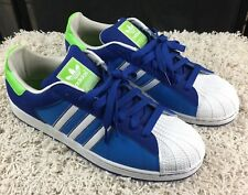 Adidas Originals Superstar II CB Mens Size 13 Classic Sneakers Blue/White/Lime