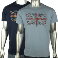 Mens Ben Sherman Union Jack Mod Sixties 60s Indie Skin Retro T-Shirt Tee S-4XL