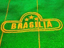 BRASILIA BRAZIL CLASSIC SOCCER TRACK SUIT JERSEY STYLE JACKET MENS L # 8