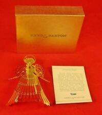Reed & Barton Goldplate Christmas Ornament V844 SINGING ANGEL, Mint in Box