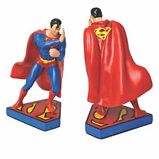 SUPERMAN BOOKENDS STATUE MAN OF STEEL RETRO DC COMICS GIFT JUSTICE LEAGUE CLARK