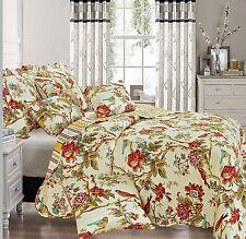 Sweet Luxurious Vintage Bedspread Comforter Throw Cotton Filling 255 x 275 cm