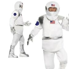 Mens Spaceman Costume Astronaut NASA Space Flight Suit Fancy Dress Adults