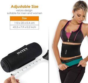 INTEY Bauchweggürtel Schwitzgürtel Neopren Fitnessgürtel mit Maßband Abnehmen DE