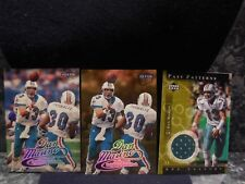 3 dan marino cards  1 2001 upper deck  jersey card 2 fleer  ultra cards