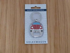 VW Beetle Bottle Opener Keyring Red Officially Licensed by Volkswagen NEW