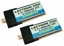 Lectron Pro 3.7 volt 300mAh 35C Lipo Battery 2-Pack for Blade mCP X mCPX2