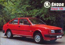 Skoda Rapid Coupe 130 French market sales brochure / leaflet