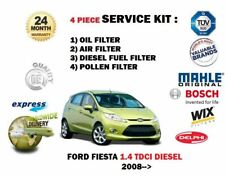 FOR FORD FIESTA 1.4 TDCi 10/2008->  SERVICE KIT OIL AIR FUEL POLLEN 4 FILTER KIT